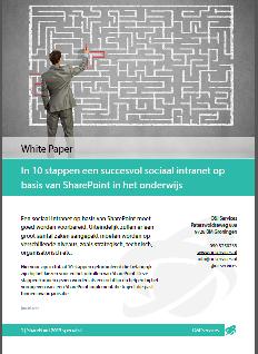 In 10 stappen een sociaal intranet in het onderwijs